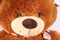 игрушка мягкая медведь с шарфом коричневый 1114/48 h=28см