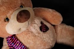 игрушка мягкая медведь с шарфом м-1113/80 h=80cm
