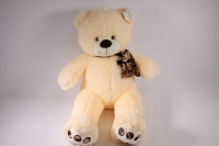 игрушка мягкая медведь с шарфом шампань 1114/48 h=28см