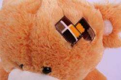 игрушка мягкая медведь с заплаткой рыжий 1102/48-м h=46см