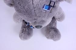 игрушка мягкая медведь с заплаткой серый 1102/48-м h=46см