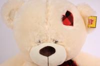 игрушка мягкая медведь шамапнь с заплаткой 48см  1104/48