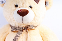 Игрушка мягкая Медведь светло-коричневый с бантом большой 70 см АГ-1712/70