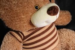 игрушка мягкая медведь в свитере бежевый м-3311/80 h=80см