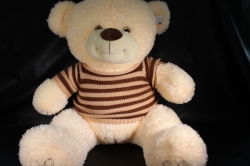 Игрушка мягкая Медведь в свитере шампань М-3311/80 h=80см