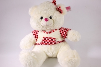 игрушка мягкая медвежонок в платье 2779/45-аг h=42см