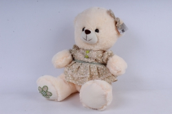 игрушка мягкая медвежонок в платье 40см  м-2752/40