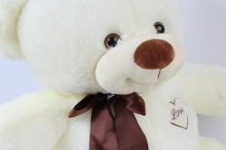 игрушка мягкая мишка с бантом молочный д-3365/55