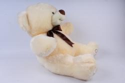 игрушка мягкая мишка с бантом шампань д-3365/55