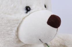 игрушка мягкая мишка с сумкой белый д-1348/48