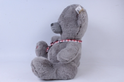 игрушка мягкая мишка с сумкой серый д-1348/48