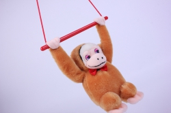 игрушка мягкая обезьянка на палке 16см    2883/16-аг