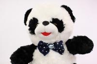 игрушка мягкая панда с бантом-бабочкой 42см 1222/42