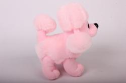 игрушка мягкая - пудель розовый аг-1792/18 h=19cm