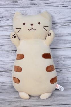 Игрушка мягкая (С) - Кот подушка кремовый релакс 45см  20412-45