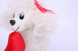 игрушка мягкая собака - белая  3392-аг