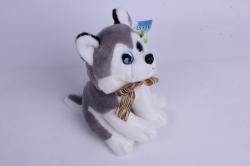 игрушка мягкая - собака хаски аг-1794/20 h=20cm