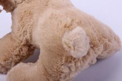 игрушка мягкая собака лежачая бежевая  аг-2593