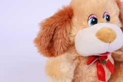 игрушка мягкая собака песочная  15528-ма  зоо