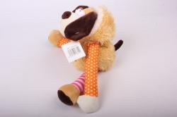 """игрушка мягкая - собака """"потяни за лапу"""" ма-18714/18 h=32cm"""