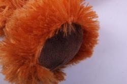 игрушка мягкая собака - рюкзак коричневая 5058 h=38см