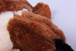игрушка мягкая собака-сумка коричневая аг-1755/27