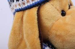 игрушка мягкая собака в синей шапке 20 см ма-16697/20