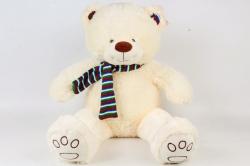 Игрушка мягкая-Медведь в шарфе кремовый   Д-2202/48