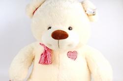 Игрушка мягкая-Медведь в шарфе кремовый 80см  Д-2202/80