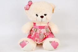 Игрушка мягкая-Медвежонок в платье кремовый   Д-1862/40