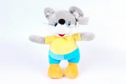 Игрушка мягкая-Мышь в одежде музыкальная   Д-20628/28