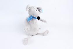 Игрушка  (Г) - Крыска с бантиком серая  Арт.91003