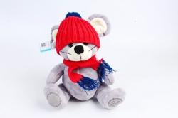 Игрушка  (Г) - Мышка в вязаной шапке и шарфе  Арт.91012