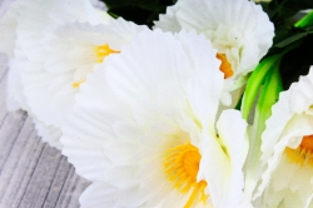 Искусственное растение - Анемона махровая белая 40