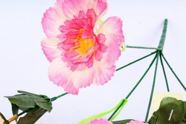 Искусственное растение - Анемона махровая бело-розовая