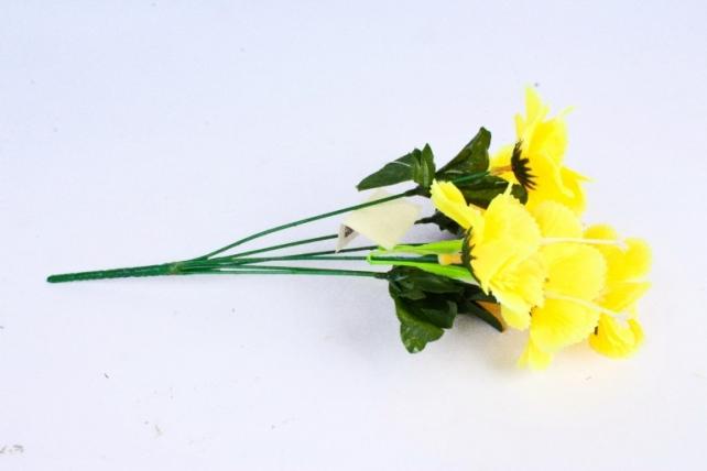 Искусственное растение - Анемона махровая жёлтая 40 с