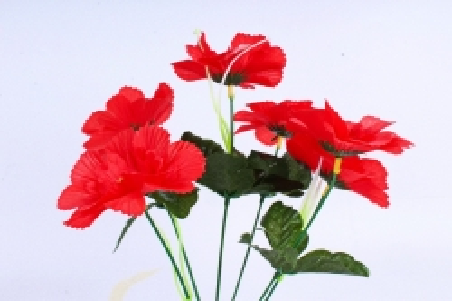 Искусственное растение - Анемона махровая красная