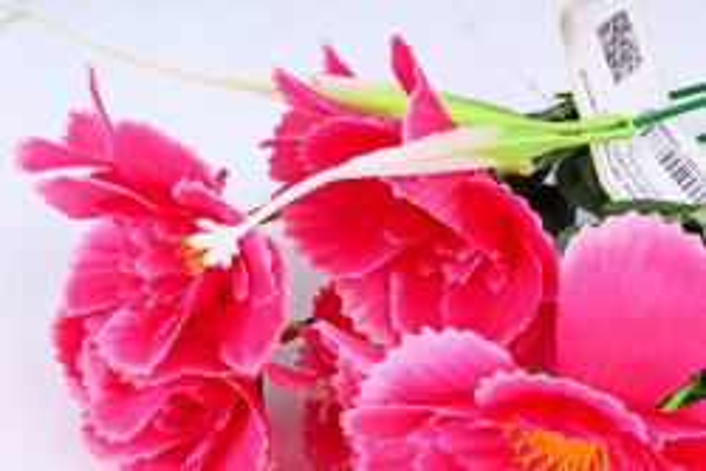 Искусственное растение - Анемона махровая малиновая
