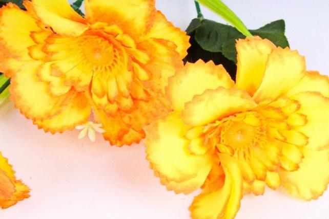 Искусственное растение - Анемона махровая неон