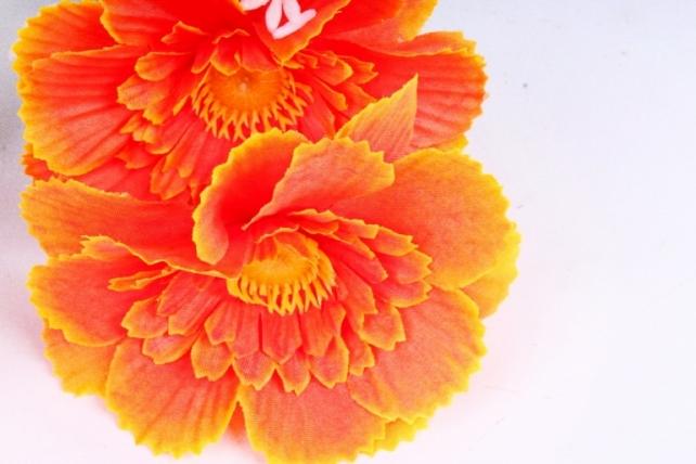 Искусственное растение - Анемона махровая оранжевая
