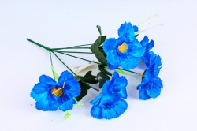 Искусственное растение - Анемона махровая синяя