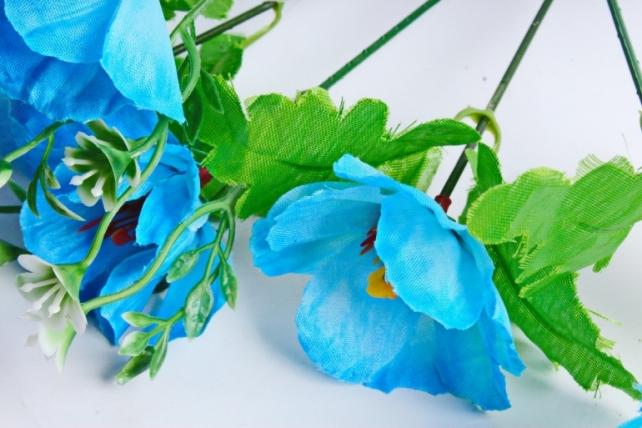 Искусственное растение - Анемоны голубые