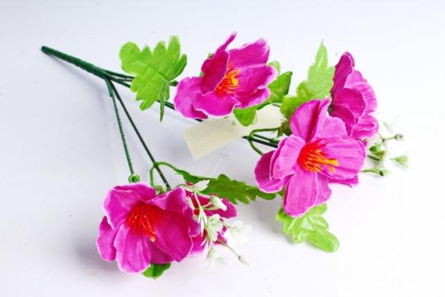 Искусственное растение - Анемоны сиреневые