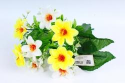 Искусственное растение - Азалия с гипсофилой бело-жёлтая
