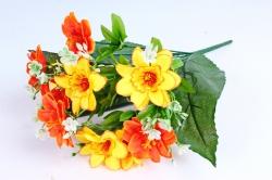 Искусственное растение - Азалия с гипсофилой желто-оранжевая