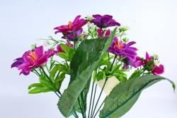 Искусственное растение - Азалия с гипсофилой пурпурная
