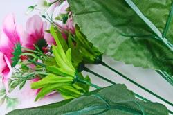 Искусственное растение - Азалия с гипсофилой розовая