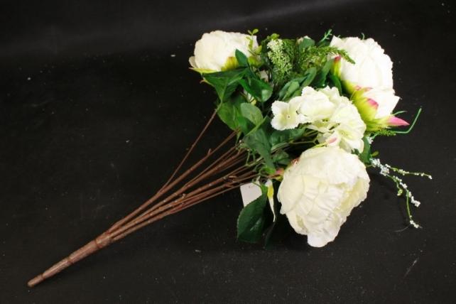 Искусственное растение - Букет Гортензия,пион белый LIU231