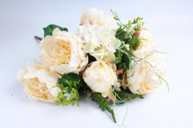 Искусственное растение - Букет Гортензия,пион кремово-салатовый LIU231