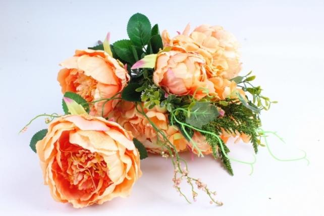 Искусственное растение - Букет Гортензия,пион оранжевый LIU231